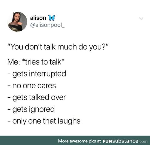 So relatable ,it hurts