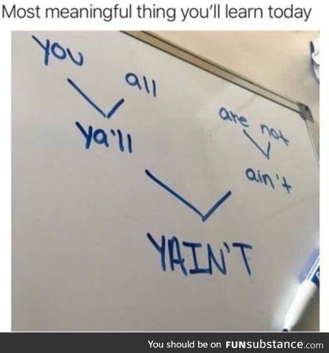 Yain't