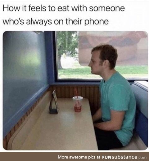 Friends who use their phones