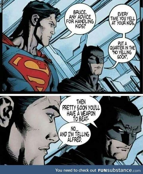 How Batman handles kid