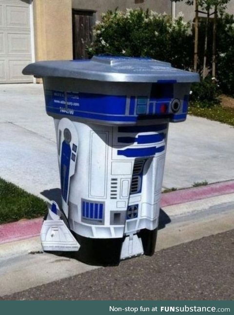 Being creative with your trash bin
