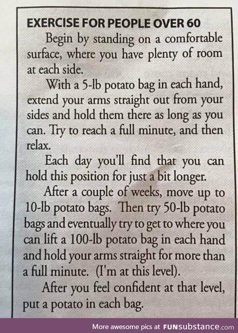 Exercise for the older folks