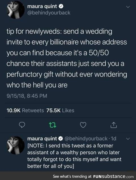 Wedding hack