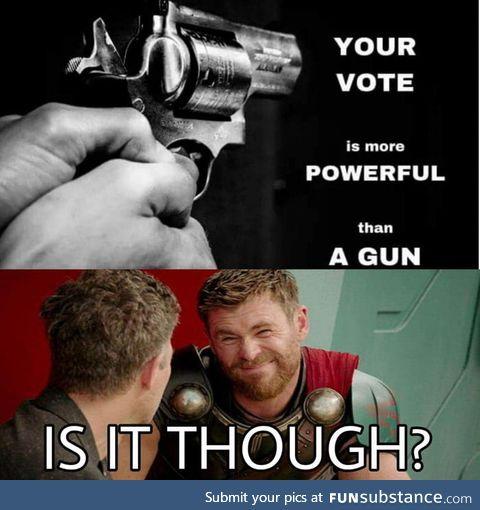 Never got mugged by a ballot