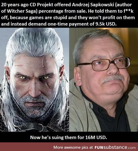Witcher's author sued CD Projekt RED