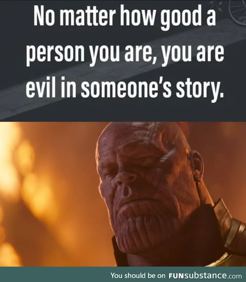 Thanos did nothing wrong
