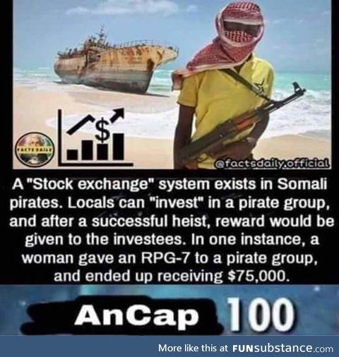 Pirate stock exchange