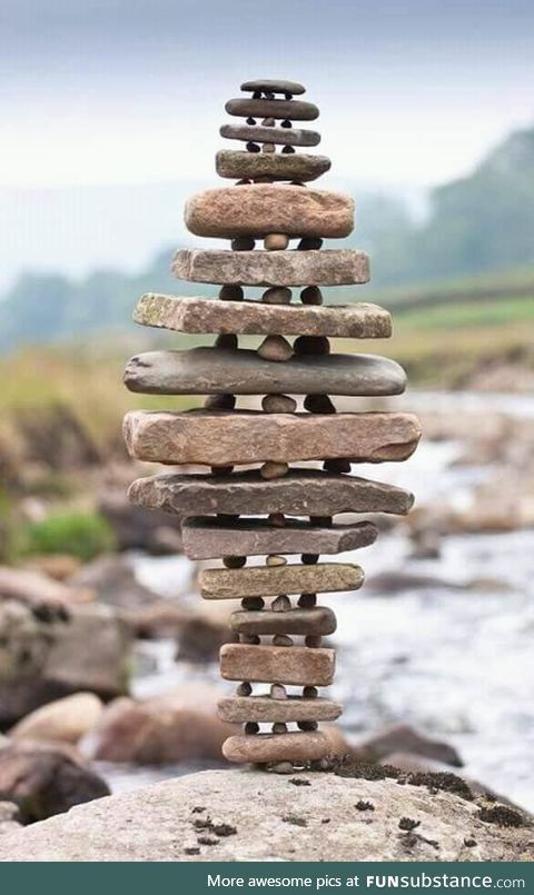 Beautiful rock balancing