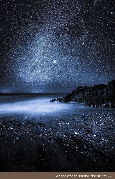 England's Isle of Wight at Night