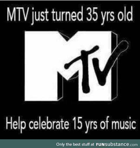 Happy birthday, mtv!