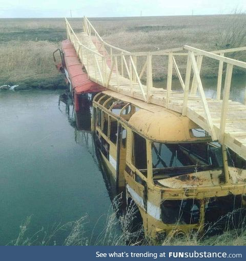 How the Russian Civil Engineers construct a bridge
