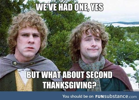 Happy (early) Thanksgiving, Canadians!