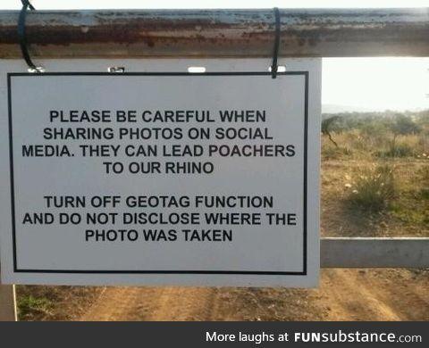 Keep the rhinos safe