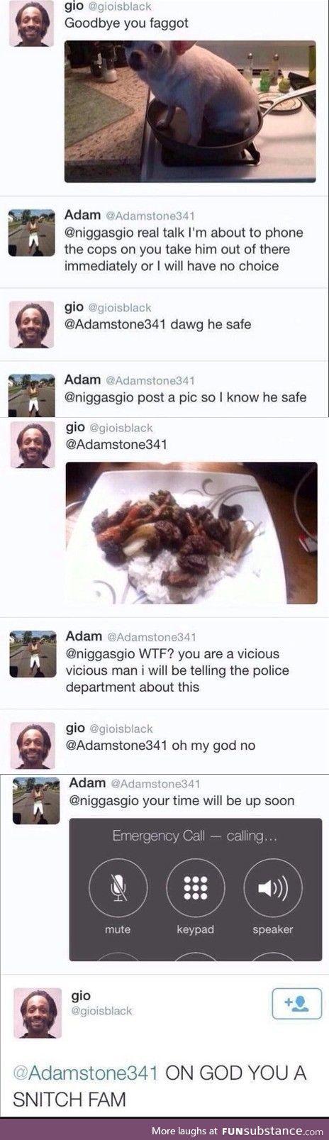 A classic black tweet