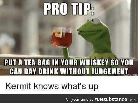 Its better to be called a tea drinking fag than a drunk