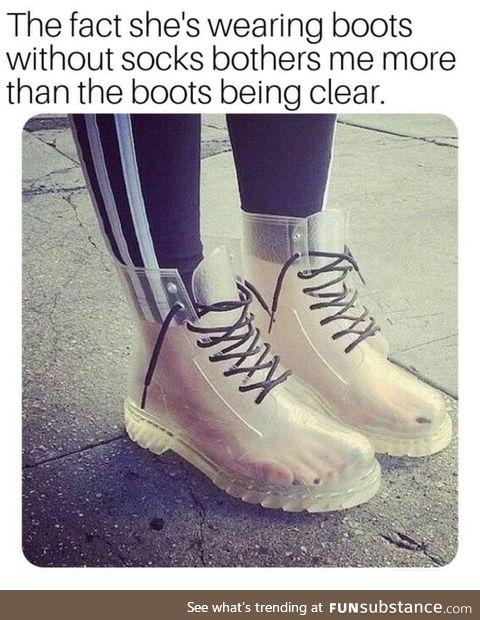 No socks