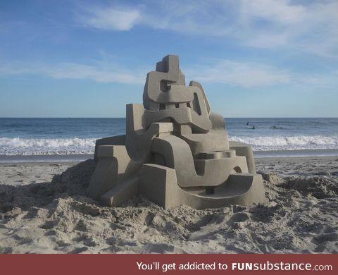 Modernist sand castle