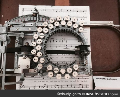 Music Typewriter from 1936