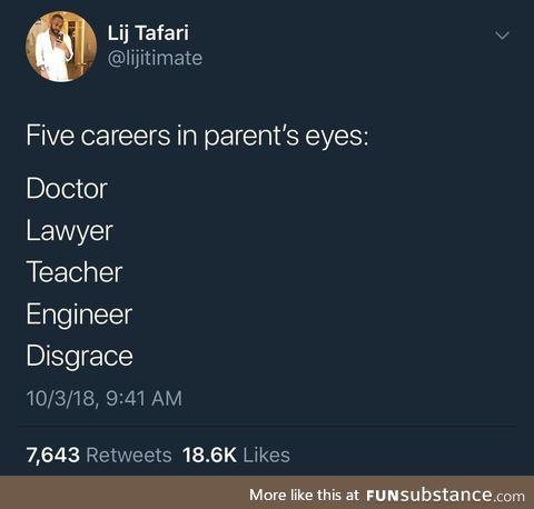 5 career options
