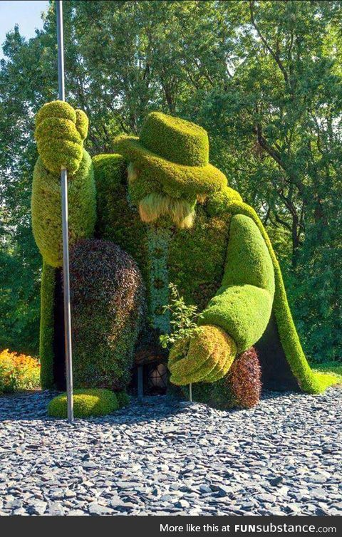 One of the amazing sculptures in Gatineau Park Canada