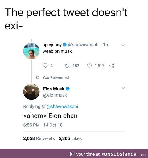 Wouldn't it be Elon-kun?