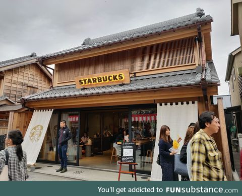 In Kawagoe, Japan, Starbucks has blended into the local traditional style