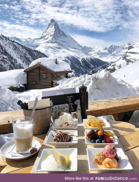 Breakfast in Zermatt, Switzerland