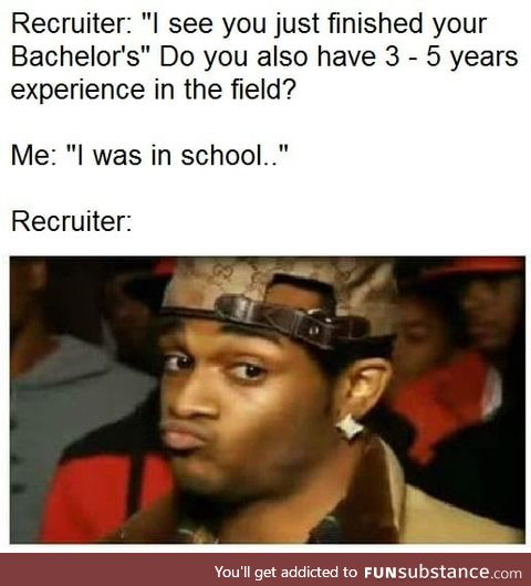 That's why you do internships