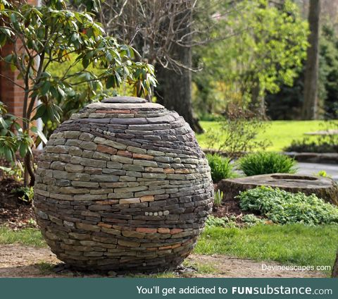 Sphere made of stacked stones