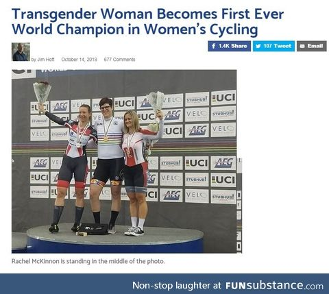 Man becomes female cycling champion