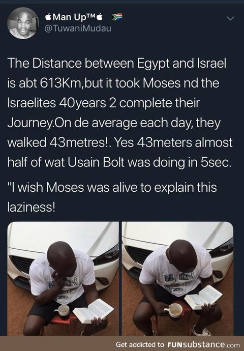 Moses! These numbers don't add up