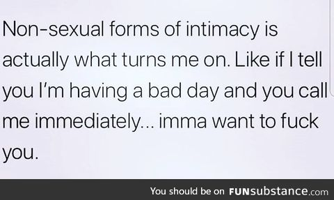 Intimacy is so important