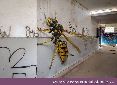 Disturbingly realistic graffiti