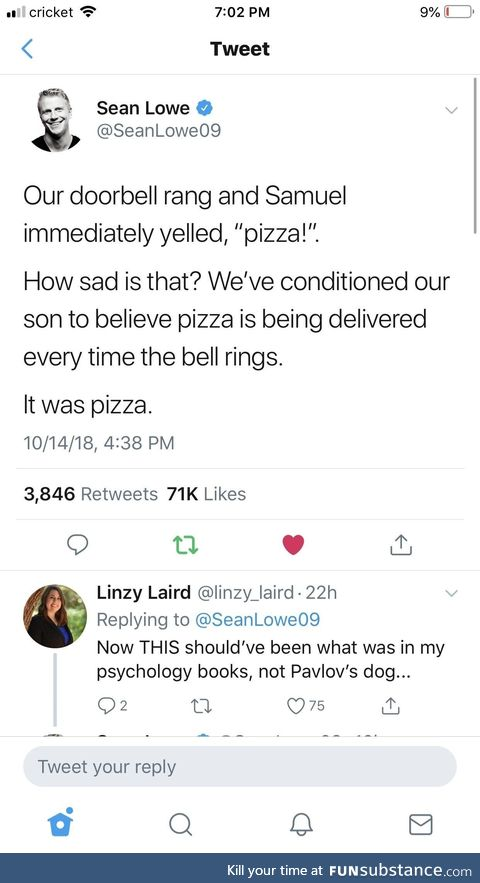 It was pizza
