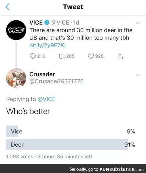 Vice sucks