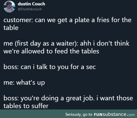 Don't feed the tables