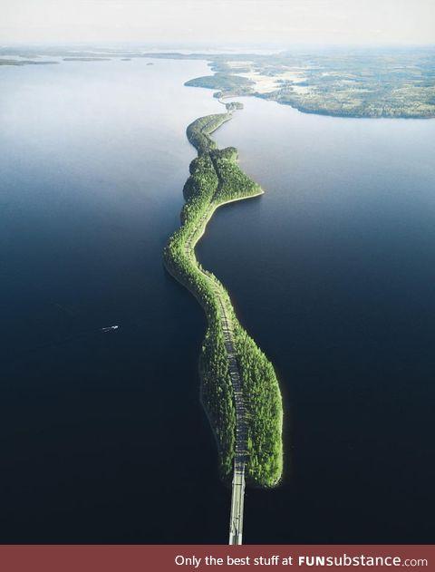 This bridge in Finland
