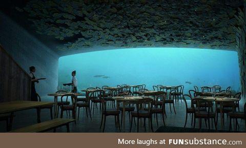Underwater restaurant in Båly, Norway