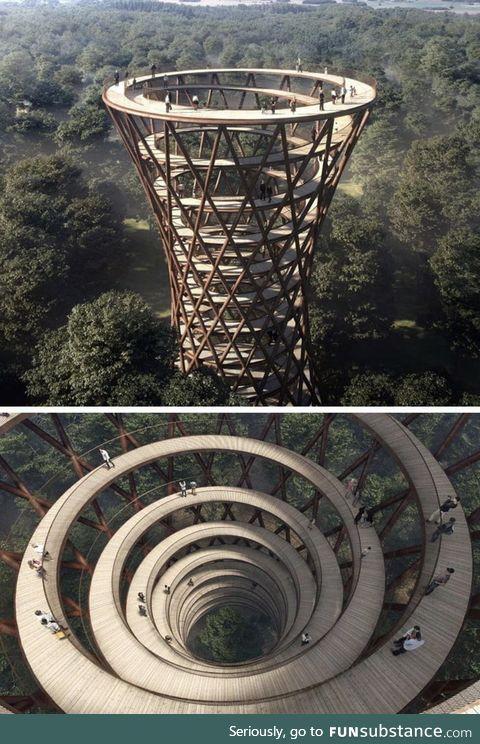 Spiral treetop walkway, denmark