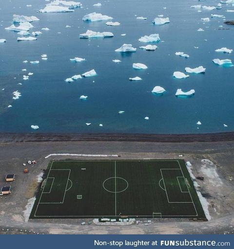 Soccer Field in Greenland