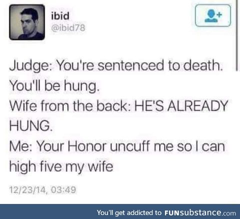 You'll be hung