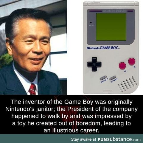 The inventor of Game Boy was a janitor