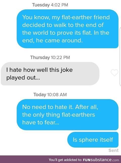 Flat earth joke