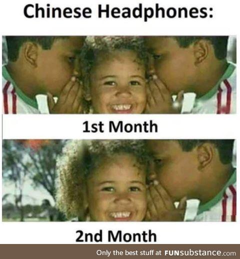 Chinese headphones