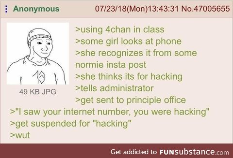 Anon gets suspended for hacking