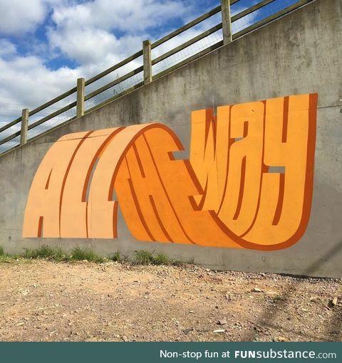 Trippy graffiti