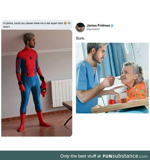 The real superhero!