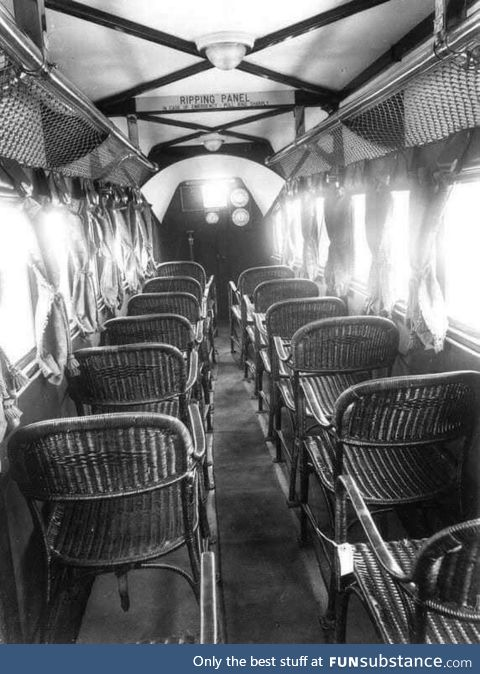 Inside of an Airplane in 1930s