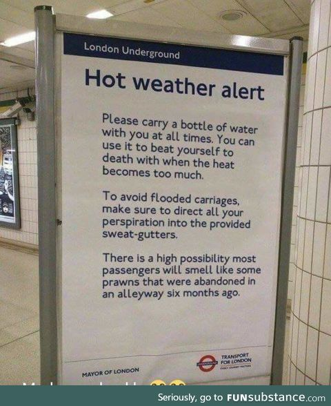 London underground weather update
