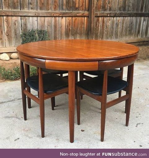How these chairs fit into this table